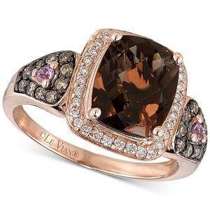 Le Vian® Smoky Quartz Ring in 14k Strawberry Gold